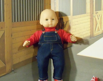 15 inch Doll Denim Overalls