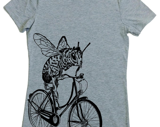 Tshirts for Women | Honey Bee Womens Tshirt | Hipster Clothing | Trendy Womens Clothes | Funny Tops for Women | Cool Woman T Shirt