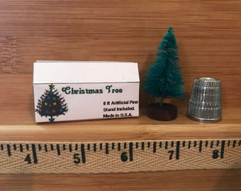 C-15  Miniature Christmas Tree in box.  for Barbie, dollhouses, collectors, diloramas