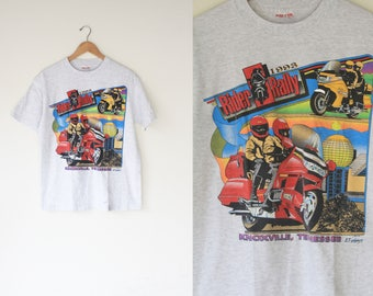 90's Vintage Heather Grey '93 Rider Rally Knoxville Tennessee
