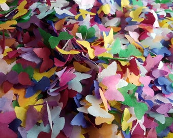 Rainbow color mixed Biodegradable tissue paper butterfly confetti. Throwing and table decor/Wedding Birthday and more decor