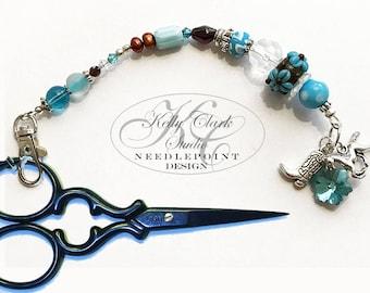Horse Scissor Fob, Handmade Beaded, Purse Charm, Key-chain Charm,