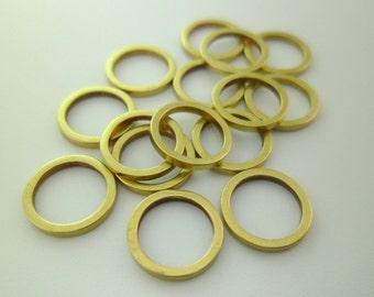 200pcs 9mm Small Raw Brass Circle Rings Links Connectors Geometry Minimalist 0103-0110