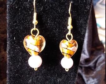 Lampwork glass hearts