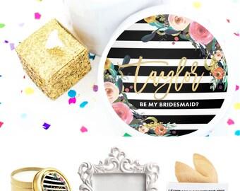 Mini Will you be my Bridesmaid Gift - Bridesmaid Box Set - Ask Bridesmaids - Maid of Honor - Wedding Party Gift - Junior Bridesmaid