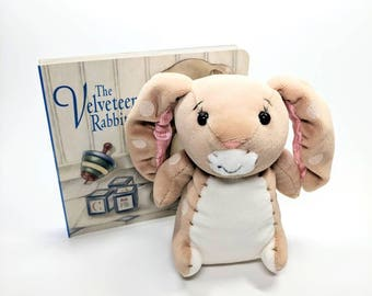 Collectible Velveteen Rabbit book and plush toy set.