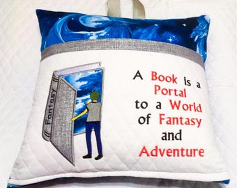 A book is a portal to a world of fantasy and adventure- Boy and book-Applique 5x7 Bundle Set- INSTANT DIGITAL DOWNLOAD