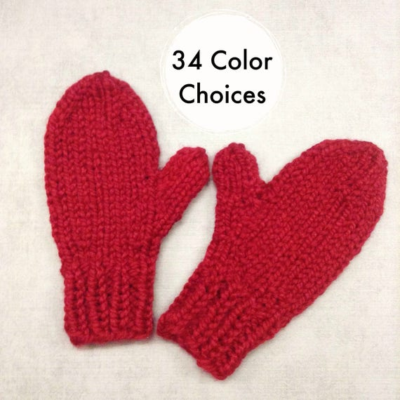 Cranberry Red Mittens Womens Accessories Womens Mittens Adult Mittens Red Gloves - 34 Color Choices