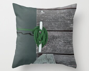 Photo Pillow Cover Decorative Green Pillow Water Pillow Ocean Pillow Beachy Pillow Cover