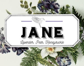 JANE Jane Eyre Inspired Bookish Candle Vintage