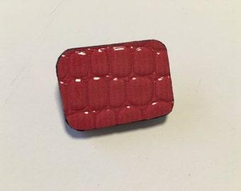 Original brooch - bright red