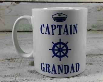 CAPTAIN GRANDAD MUG 11oz Grandad's gift cup