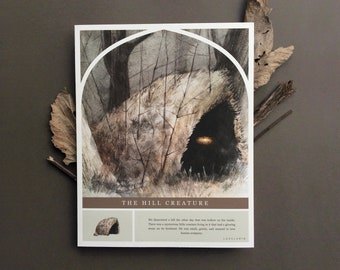 The Hill Creature Story Print    Fantasy/Mythology/Folklore/fairy/fae