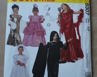 Vintage McCall's Costumes Pattern 8307 - Size 5, 6 Glamour Costumes