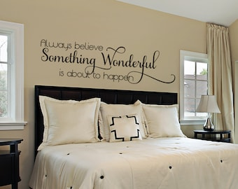 Bedroom Wall Decal - Master Bedroom Wall Decal - Wall Decals For the Home - Inspirational Quote - Vinyl Wall Decal - Wall Quote