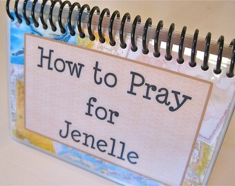 How to Pray for Your Grown Children, PERSONALIZED, Spiral-Bound, Laminated Prayer Cards