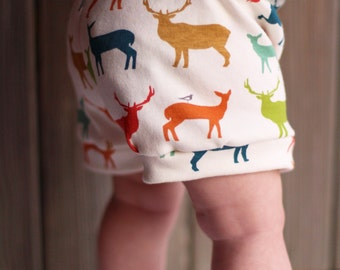 Baby Shorts - Multicolor Elk Organic Knit  - Soft and Comfy!