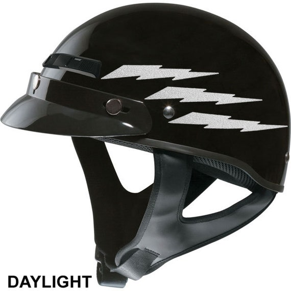 Lightning Bolts Reflective Decal Set Reflective Lightning - Custom motorcycle helmet stickers and decalsbicycle helmet decals new ideas for you in bikes and cycle