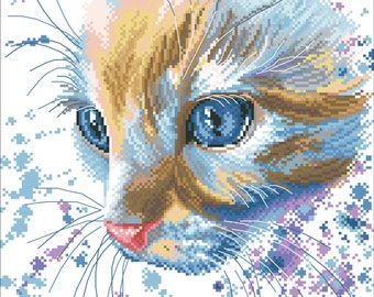 Digital Hand Embroidery Pattern | Cat| Instant Download PDF | Free Gift