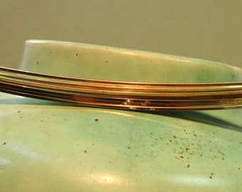 Gold Wire - 18 Gauge - Gold-Filled Wire - SQUARE - Half-Hard - 3 Feet