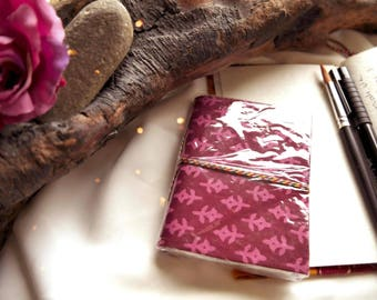Pink 100% recycled paper journal