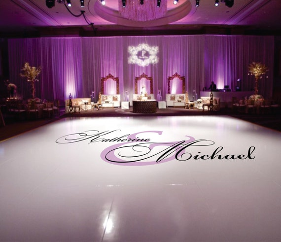 Dance Floor Decal Wedding Wedding Floor Monogram Vinyl Floor