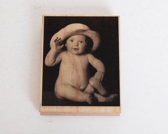 Baby Rubber Stamp by the Stamping Ground Peekaboo #10099