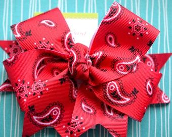 Red Bandana XL Diva Bow