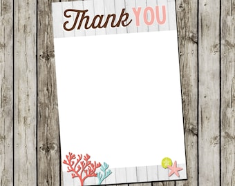 Girl Baby Shower Invitation | Flat Thank You Card | Digital File