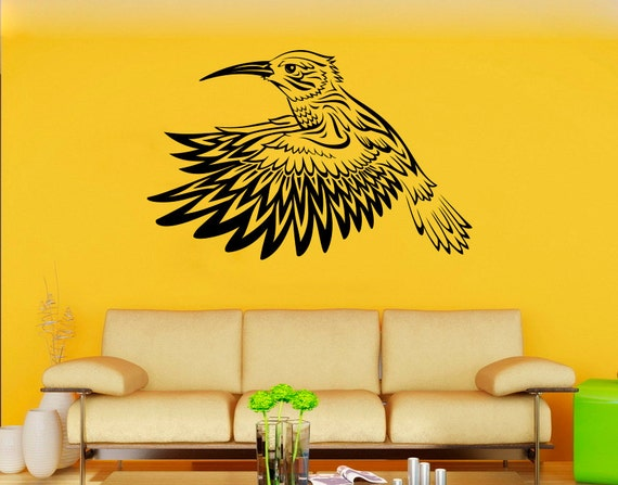 Hummingbird Wall Vinyl Decal Colibri Wall Vinyl Sticker Birds