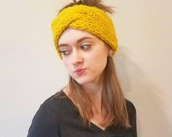 Braided Earwarmer || Headband || Yellow