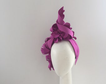 Turban Fascinator , Millinery , Fascinator , races hat, couture headpiece , fashions in the field, Melbourne Cup