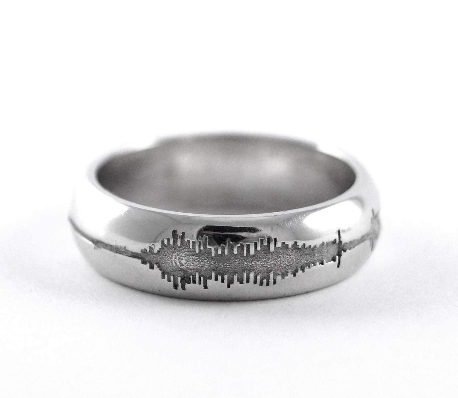 rickson engraved chic sound love sounds geek listing jewellery il nerd wave ring rings hand geekery personalized music of fullxfull