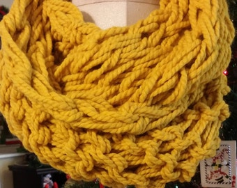 Super Chunky Arm Crochet Warm Winter Yarn Scarf