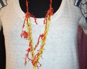"Necklace yellow ""art of recycling"""