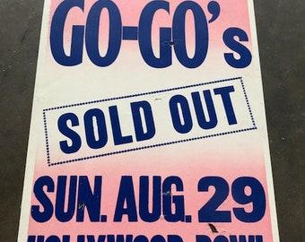 The Go-Go's - Rare 1982 Show Poster