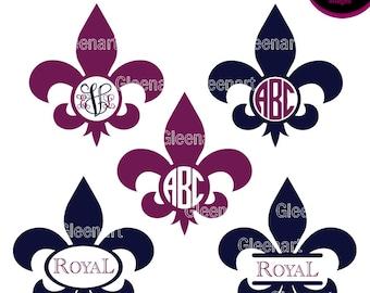 Fleur De Lis svg, Fleur De Lis monogram, Mardi Gras svg, Commercial use, Lily Symbol, Royal Symbol, Circle frame svg, INSTANT DOWNLOAD