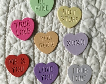 Sweetheart Candy Diecuts -- Set of 8 -- Handmade in USA