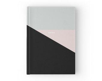 Pastel Triangle Black Based Notebook