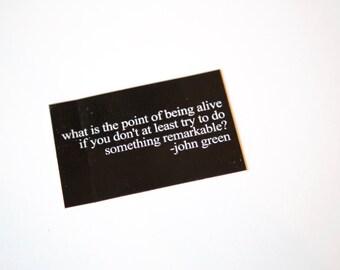 "John Green Sticker- ""An Abundance of Katherines"" Decal"