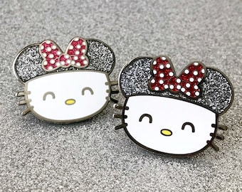 Minnie x Hello Kitty Bow Pins - Enamel Pin