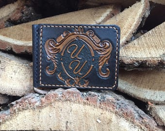 Leather money clip/ wallet/ Leather wallet