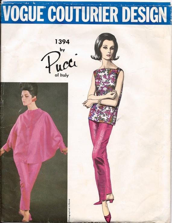 1960s Pucci pink ensemble pattern feat. Mirella Petteni Haggiag - Vogue Couturier Design 1394
