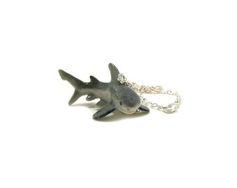 Great White Shark Necklace, Charm Necklace, Charm Jewelry, Great White Shark Charm, Shark Jewelry, Marine Life Necklace, Ocean Animal Charm