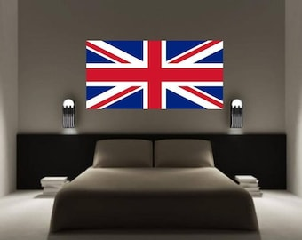 UNION JACK British Flag Wall Sticker Decal UK Great Britain Graphic Art Mural