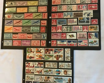 114 Different 1923-1988 Mint US Airmail Postage Stamp Collection