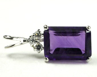 Amethyst, Sterling Silver Pendant, SP042