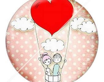resin cabochon mounted on a stick 25 mm love couple Valentine's day 4