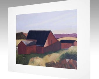 Art Print - Old Red Barn