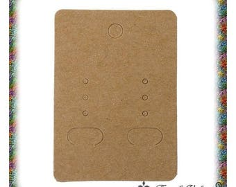 "100 ""neutral"" for jewelry coffee cardboard supports clear 7x5cm"